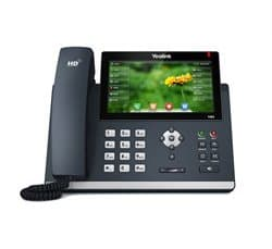 An office phone with touch screen